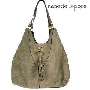Nanette Lepore Santa Ana Suede Hobo Shoulder Bag